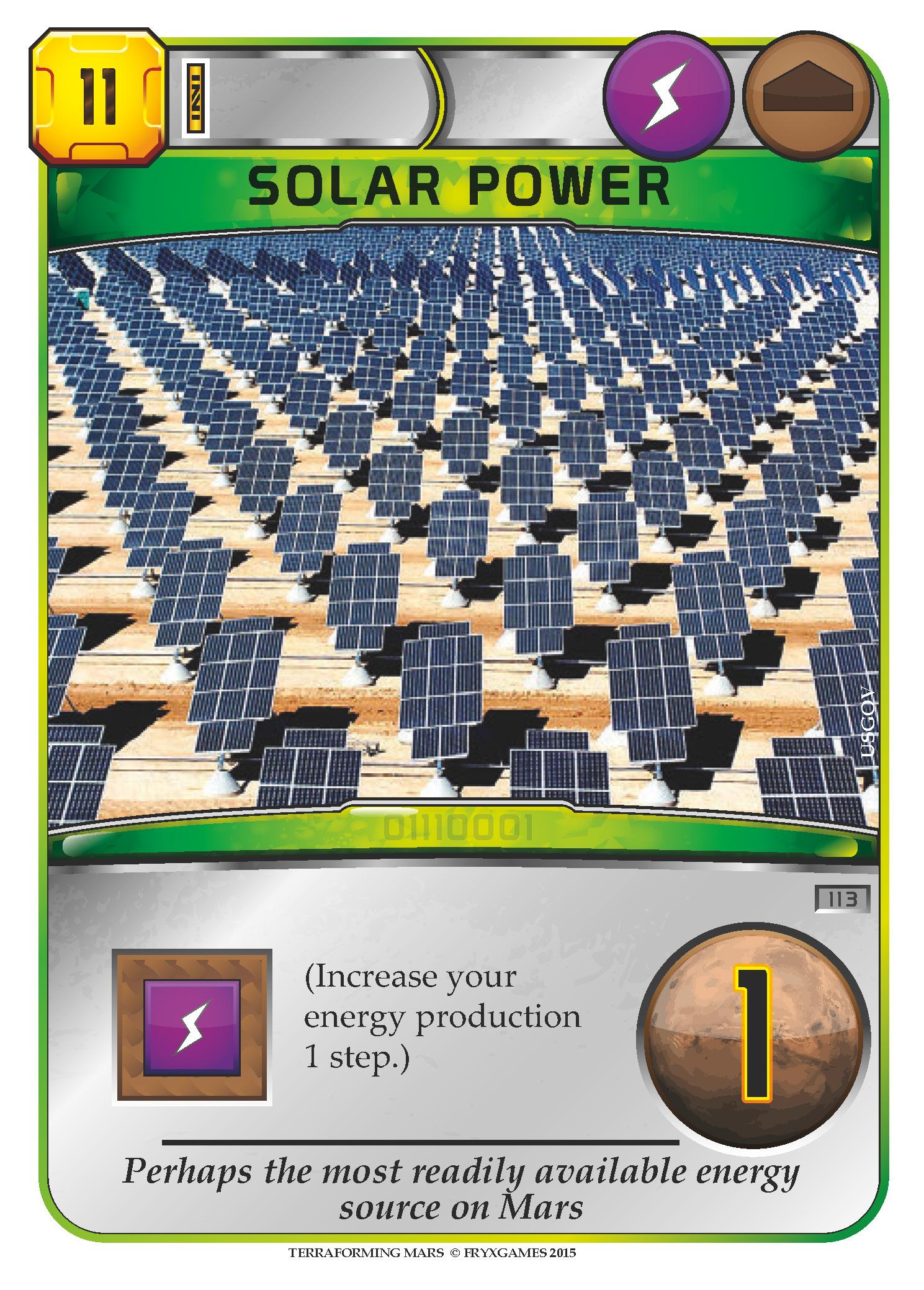 Terraforming mars fryxgames for Solar energy games